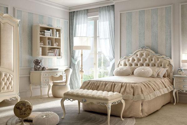 letto-singolo-stile-classico