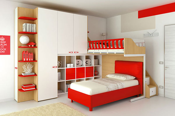 Arredamenti camerette bambini camera da letto singola for Arredamenti per bambini