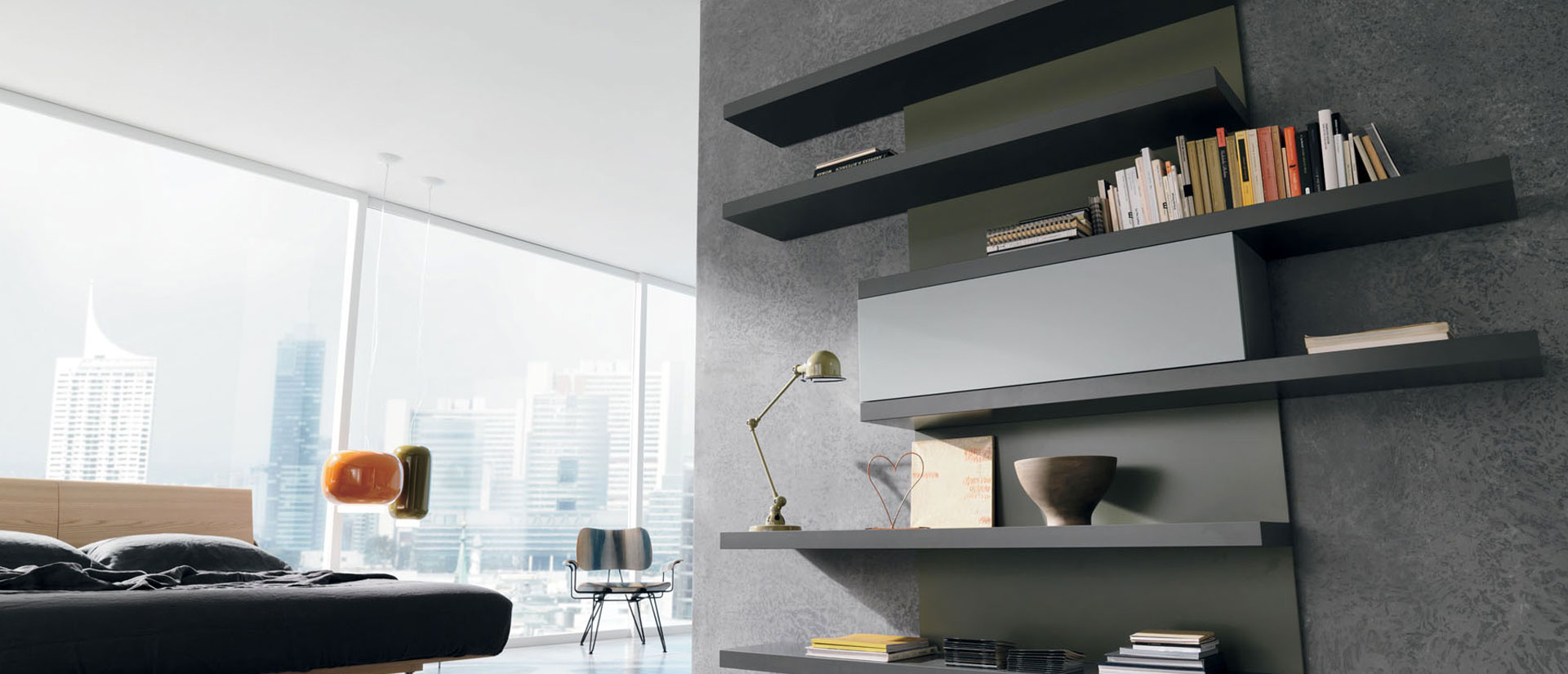 Parete attrezzata caccaro stile moderno casadesign for Parete attrezzata design moderno