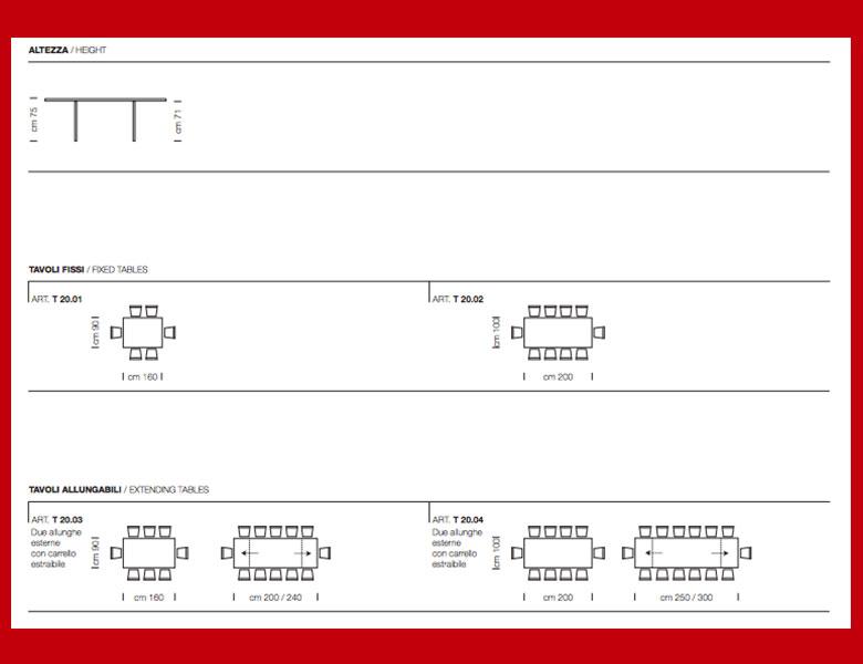 misure e caratteristiche del tavolo stratos