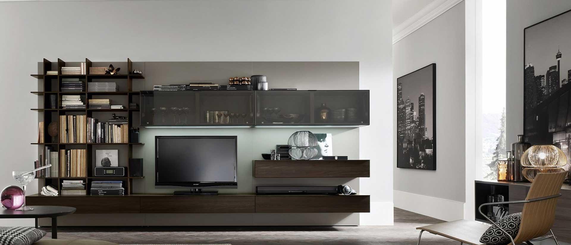 Parete attrezzata classica modulo 3 casadesign for Parete attrezzata design moderno