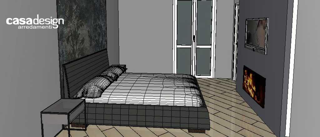 Progettazione e arredo d'interni per la camera da letto