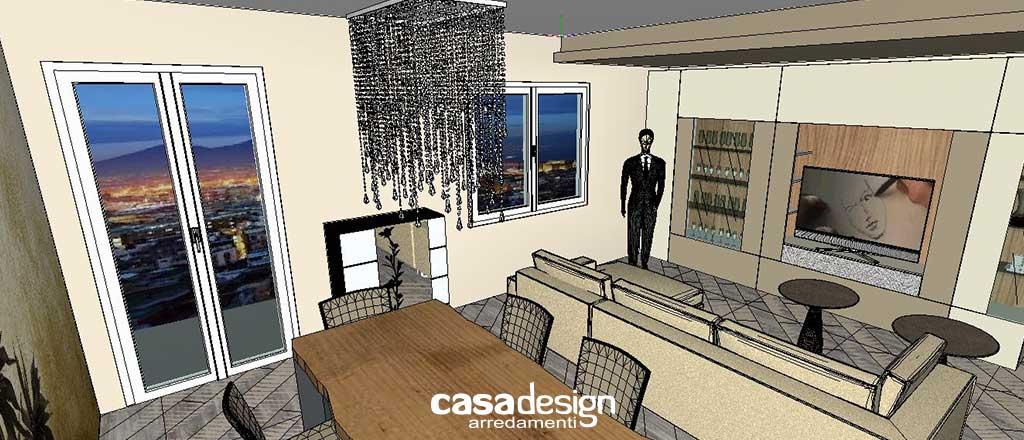 Progettazione e arredo d'interni per la zona living