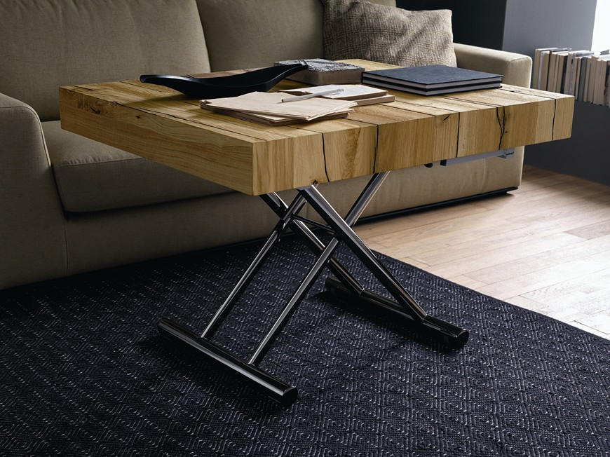 Tavolo da soggiorno tavoletto il tavolo che diventa anche un pratico letto - Tavolino che diventa tavolo da pranzo ...