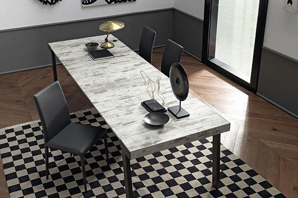 Consolle moderna Astoria in versione tavolo da soggiorno