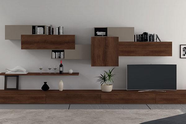Arredamento living soggiorno e pareti attrezzate for Parete attrezzata bianca e nera