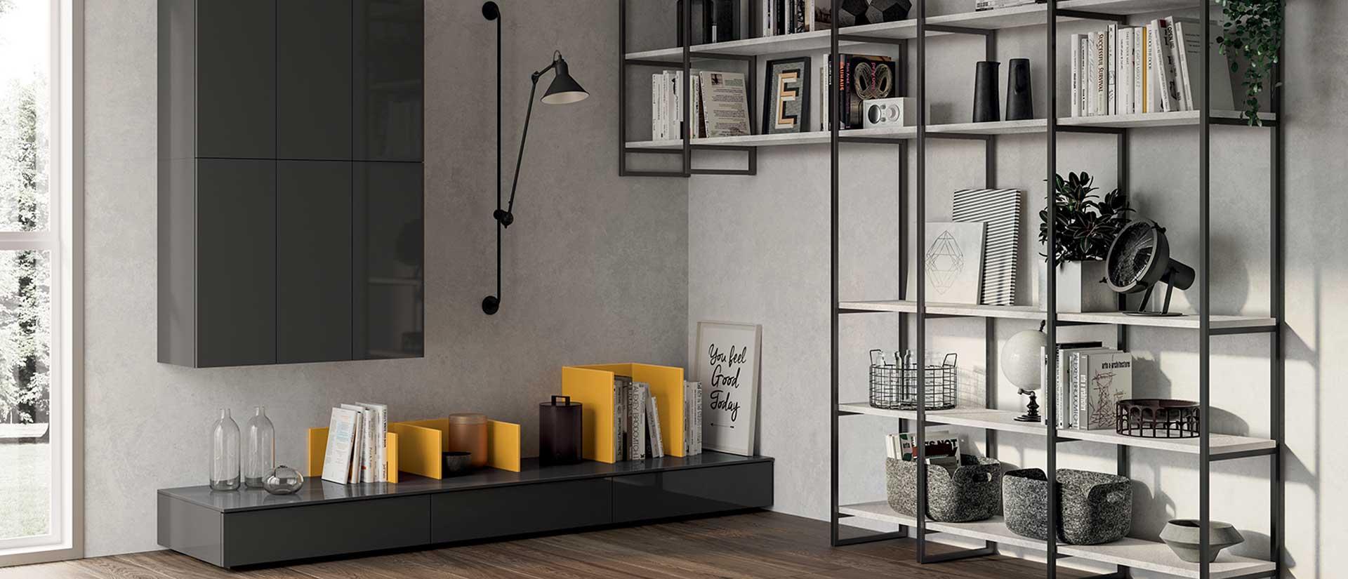 Living Sax Scavolini   Arredamento moderno zona giorno   Casadesign