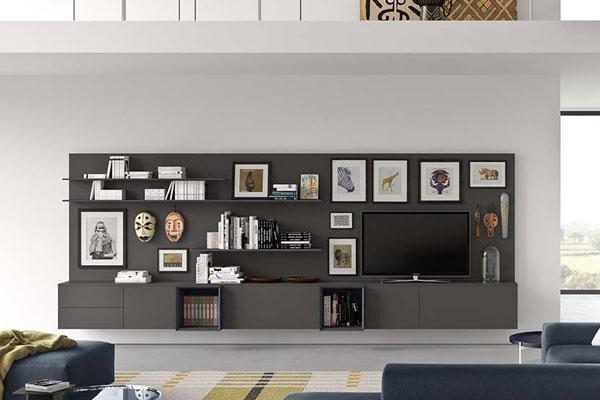 Parete Attrezzata Design Moderno.Composizione A028 Casadesign