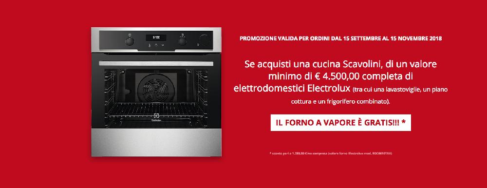 Offerta Scavolini forno a vapore Electrolux