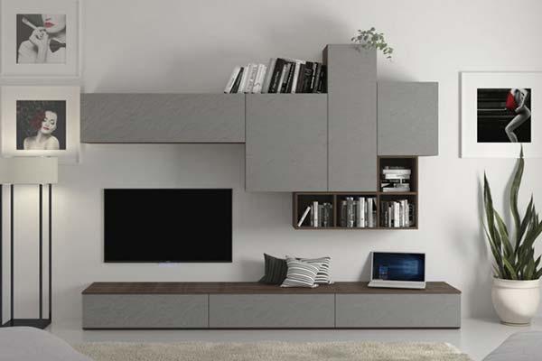 Arredamento living soggiorno e pareti attrezzate for Mobili pareti attrezzate moderne