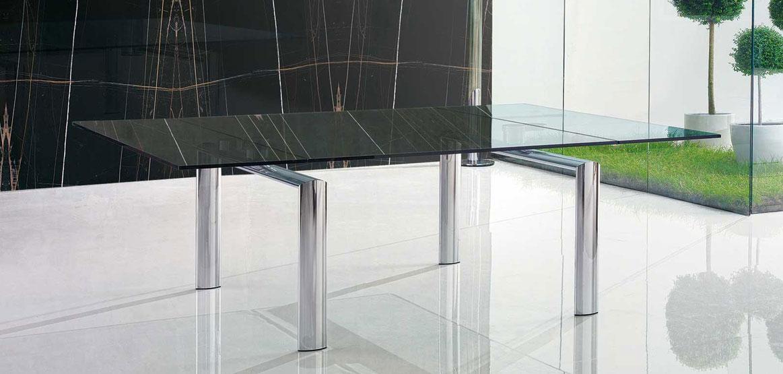 Tavoli In Cristallo Allungabili Reflex.Tavolo Policleto In Cristallo Design Reflex Angelo Casadesign Org