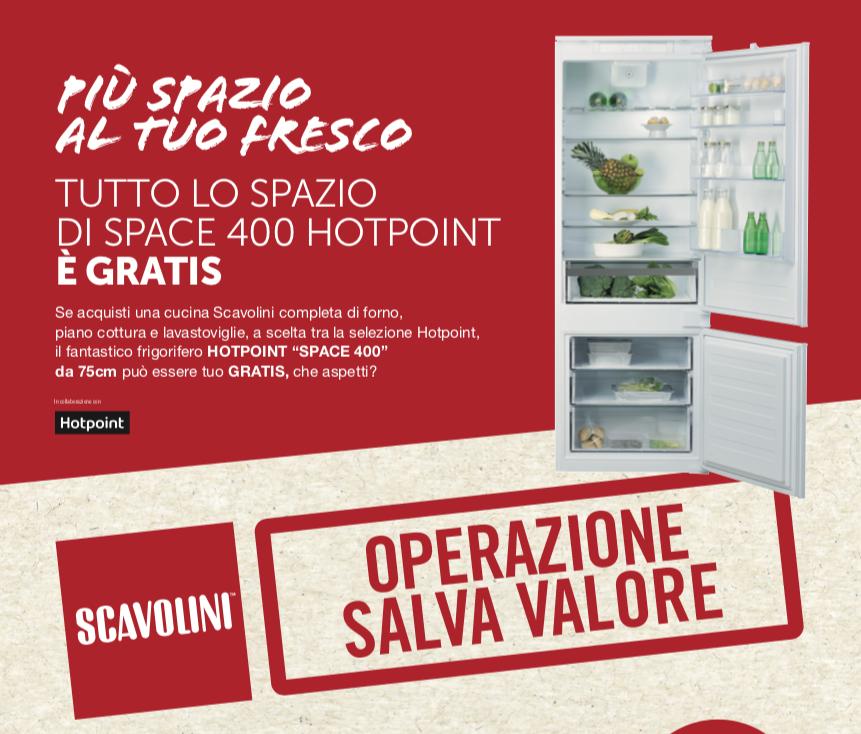 Promozione Scavolini frigorifero da incasso