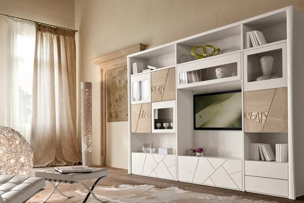 Arredamento living, soggiorno, pareti attrezzate Campania1