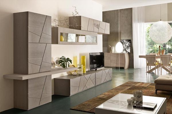 Arredamento living, soggiorno, pareti attrezzate Campania2