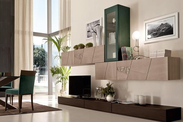 Arredamento living, soggiorno, pareti attrezzate Campania3