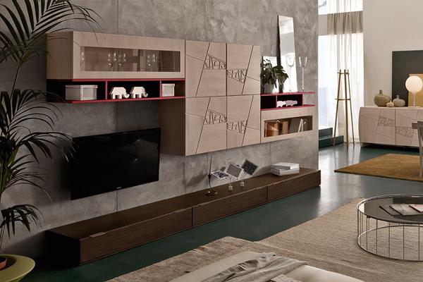 Arredamento living, soggiorno, pareti attrezzate Campania4